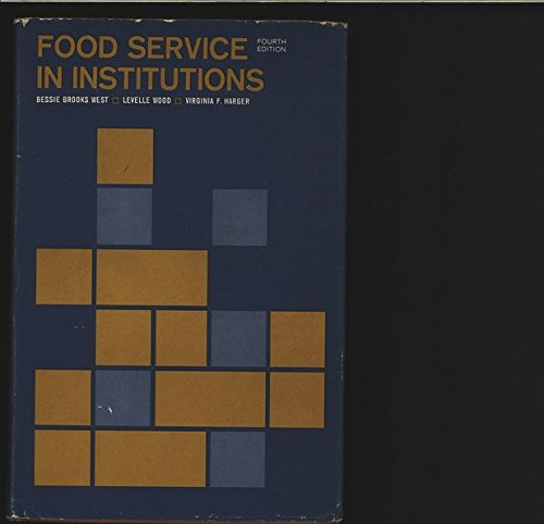 9780471933915: Food Service in Institutions