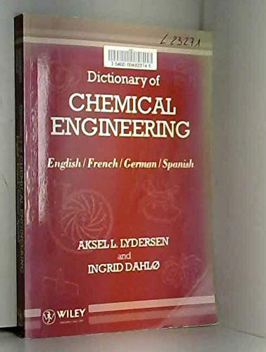 9780471933922: Dictionary of Chemical Engineering