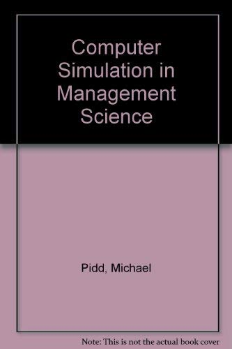 9780471934622: Computer Simulation in Management Science