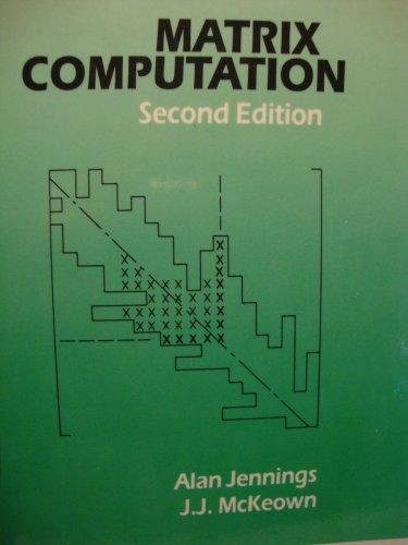9780471935278: Matrix Computation, 2E