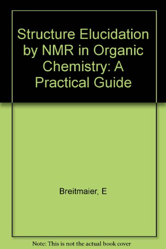 9780471937456: Structures Elucidation by Nmr in Organic Chemistry