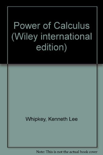 9780471937821: Power of Calculus (Wiley International Edition)