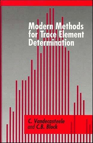 Modern Methods for Trace Element Determination: Vandecasteele, C., Block, C. B.