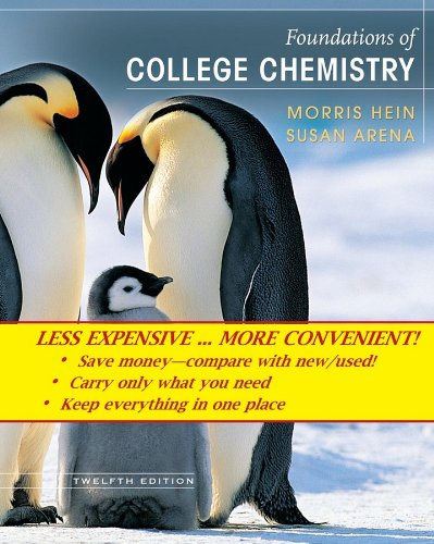 9780471940838: Foundations of College Chemistry, Binder Ready Version