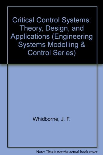 9780471941835: Critical Control Systems: Theory, Design and Applications