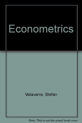 9780471959694: Econometrics
