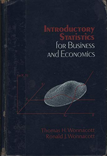 9780471959724: Introductory Statistics for Business and Economics
