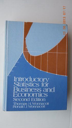 9780471959809: Introductory Statistics for Business and Economics (Wiley series in probability and mathematical statistics)