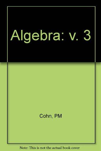 9780471961093: Algebra: v. 3