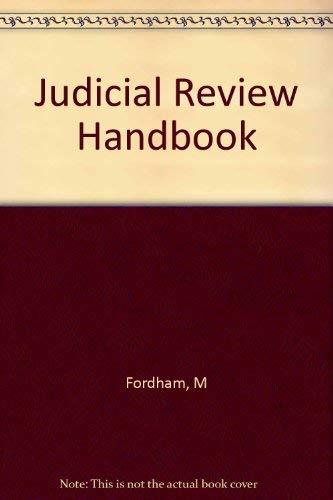 9780471962038: Judicial Review Handbook