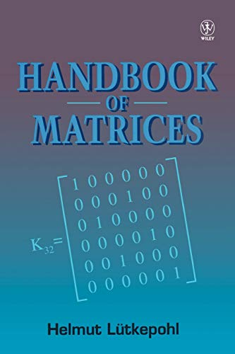 9780471970156: Handbook of Matrices