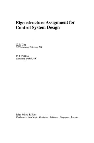 9780471975496: Eigenstructure Assignment for Control System Design