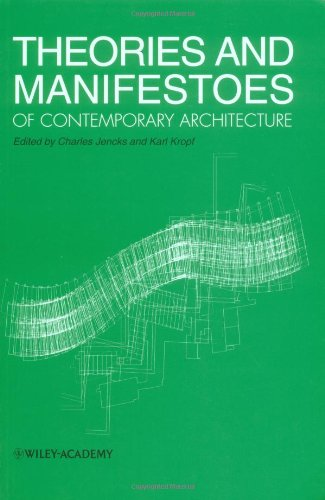 9780471976875: Theories and Manifestos of Contemporary Architecture