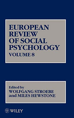 9780471979494: Volume 8, European Review of Social Psychology