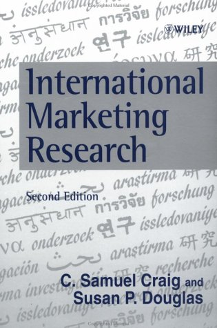 9780471983224: International Marketing Research: Concepts and Methods