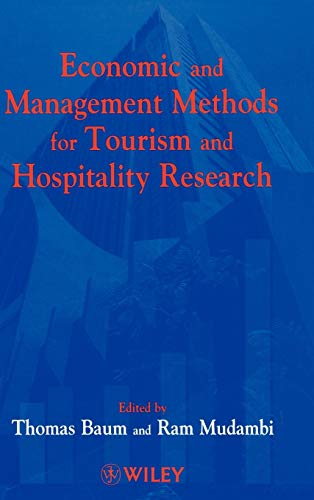 9780471983927: Economic and Management Methods for Tourism and Hospitality Research
