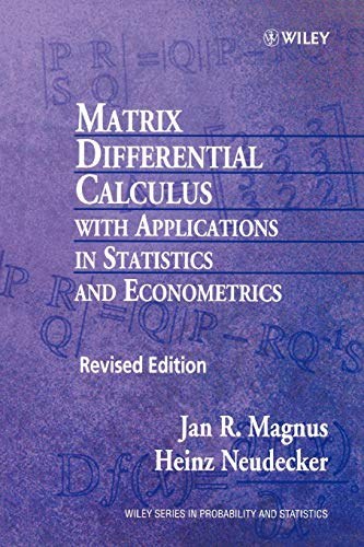 9780471986331: Matrix Differential Calculus With Applications in Statistics and Econometrics