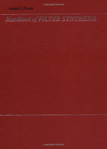 9780471986805: Handbook of Filter Synthesis