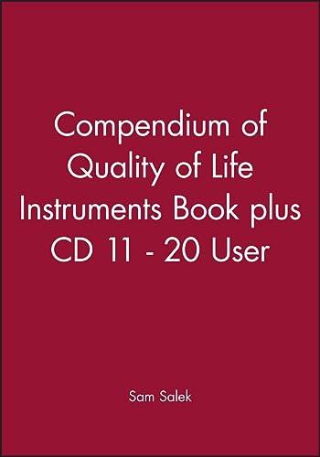 9780471988427: Compendium of Quality of Life Instruments Book plus CD 11 - 20 User