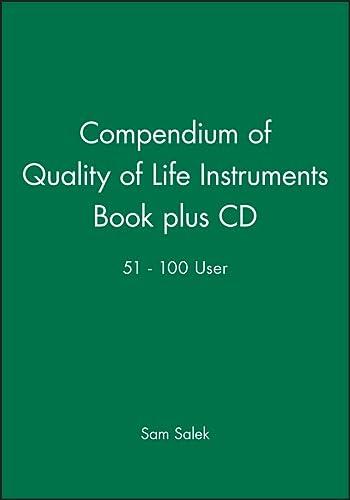 9780471988441: Compendium of Quality of Life Instruments Book plus CD 51 - 100 User