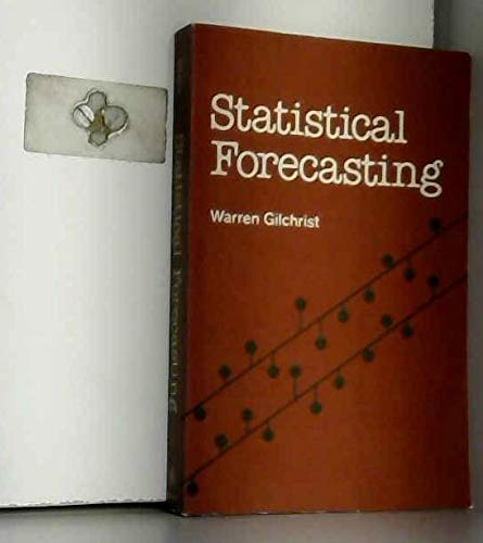 9780471994039: Statistical Forecasting