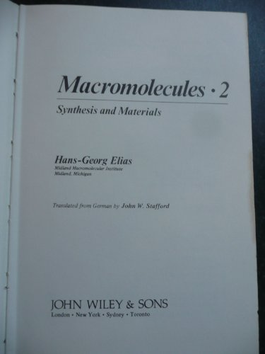 9780471994886: Macromolecules, Vol. 2: Synthesis and Materials