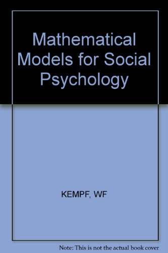 9780471995524: Mathematical Models for Social Psychology (English and German Edition)
