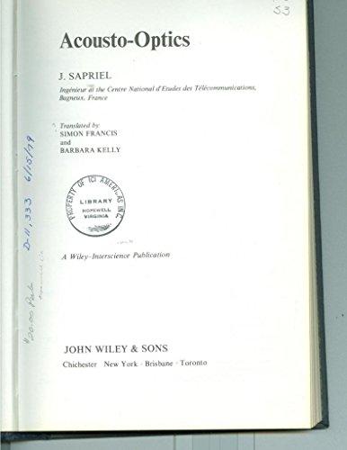 9780471997009: Acousto-optics (English and French Edition)