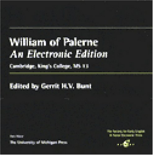 9780472003044: William of Palerne: An Electronic Edition (SEENET: Society for Early English and Norse Electronic Texts)