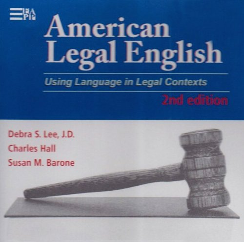 9780472003259: American Legal English, 2nd Edition: Using Language in Legal Contexts (Michigan Series in English for Academic & Professional Purposes)