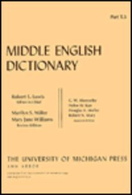 9780472012152: Middle English Dictionary (Volume T.5)