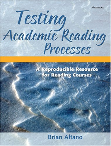 9780472030651: Testing Academic Reading Processes: A Reproducible Resource for Reading Courses