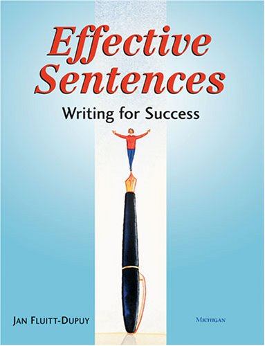 9780472031467: Effective Sentences: Writing for Success