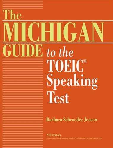 9780472032396: The Michigan Guide to the TOEIC(R) Speaking Test