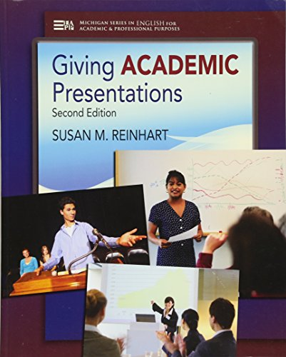 9780472035090: Giving Academic Presentations, Second Edition (Michigan Series In English For Academic & Professional Purposes)