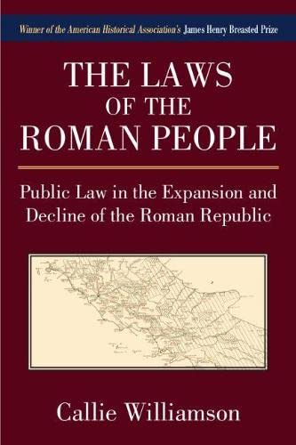 9780472036615: The Laws of the Roman People: Public Law in the Expansion and Decline of the Roman Republic