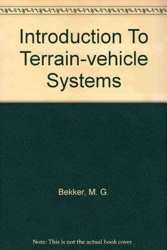 9780472041442: Introduction To Terrain-vehicle Systems