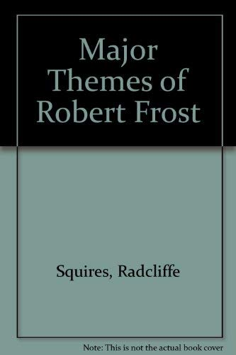 9780472061495: The Major Themes of Robert Frost