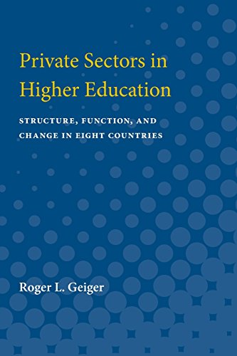 9780472063680: Private Sectors in Higher Education: Structure, Function, and Change in Eight Countries
