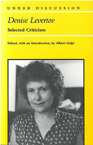 9780472064168: Denise Levertov: Selected Criticism (Under Discussion)