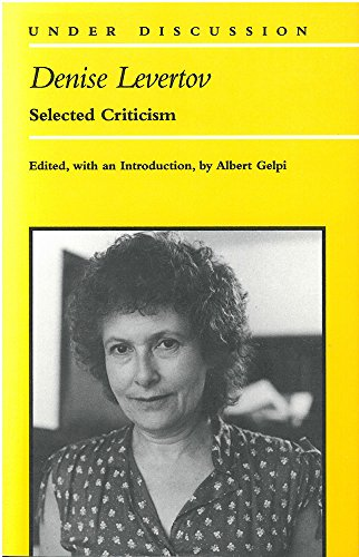 9780472064168: Denise Levertov: Selected Criticism (Under Discussion)