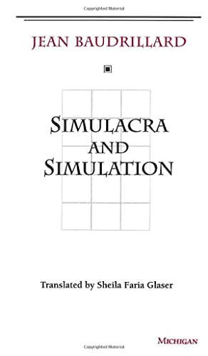 9780472065219: Baudrillard, J: Simulacra and Simulation (The Body in Theory: Histories of Cultural Materialism)