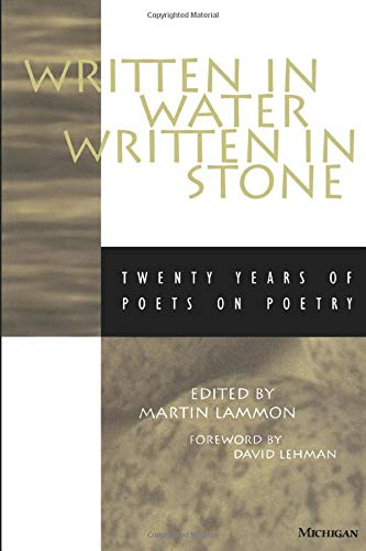 9780472066346: Written in Water, Written in Stone: Twenty Years of Poets on Poetry