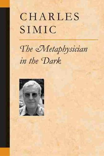 9780472068302: The Metaphysician in the Dark (Poets On Poetry)