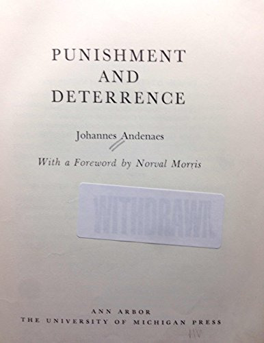 Punishment and Deterrence: Andenaes, Johannes