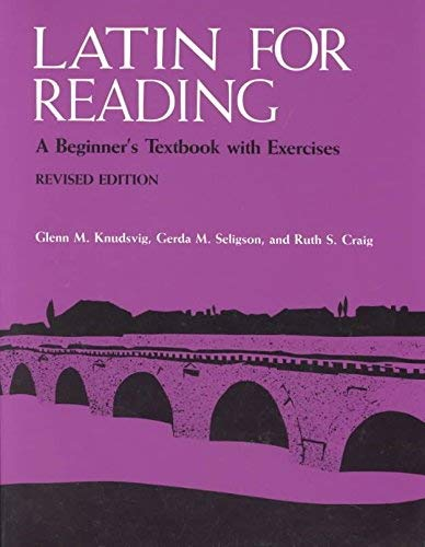 9780472080380: Latin for reading: A beginner's textbook with exercises