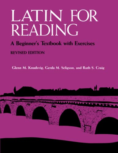 9780472080649: Latin for Reading: A Beginner's Textbook with Exercises