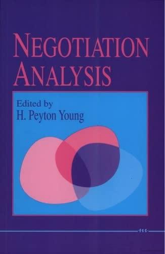 9780472081578: Negotiation Analysis