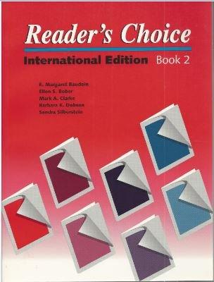 Reader's Choice : International Editions: Ellen S. Bober;