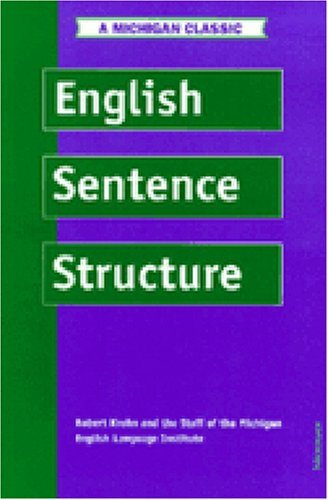 9780472083077: English Sentence Structure (Intensive Course in English)